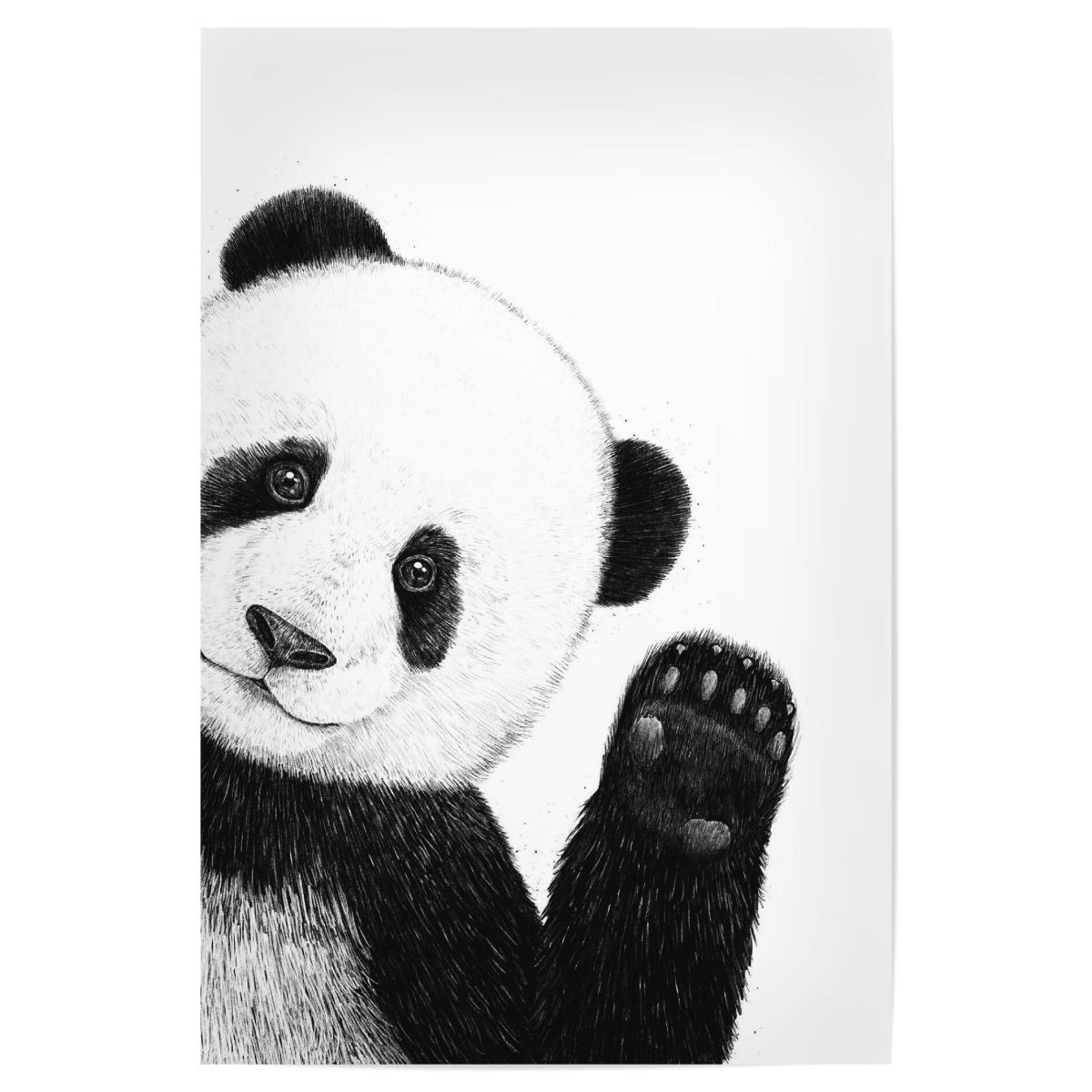 Cute Panda Als Poster Bei Artboxone Kaufen
