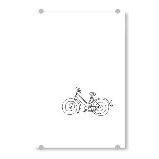 Fahrrad Line Art Strichzeichnung als Poster bei artboxONE