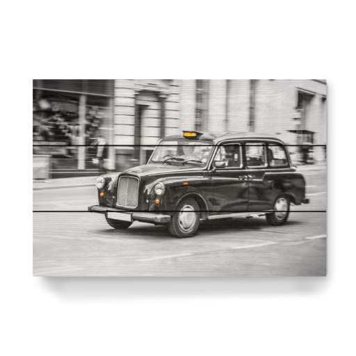 london taxi schwarzwei als poster bei artboxone kaufen. Black Bedroom Furniture Sets. Home Design Ideas
