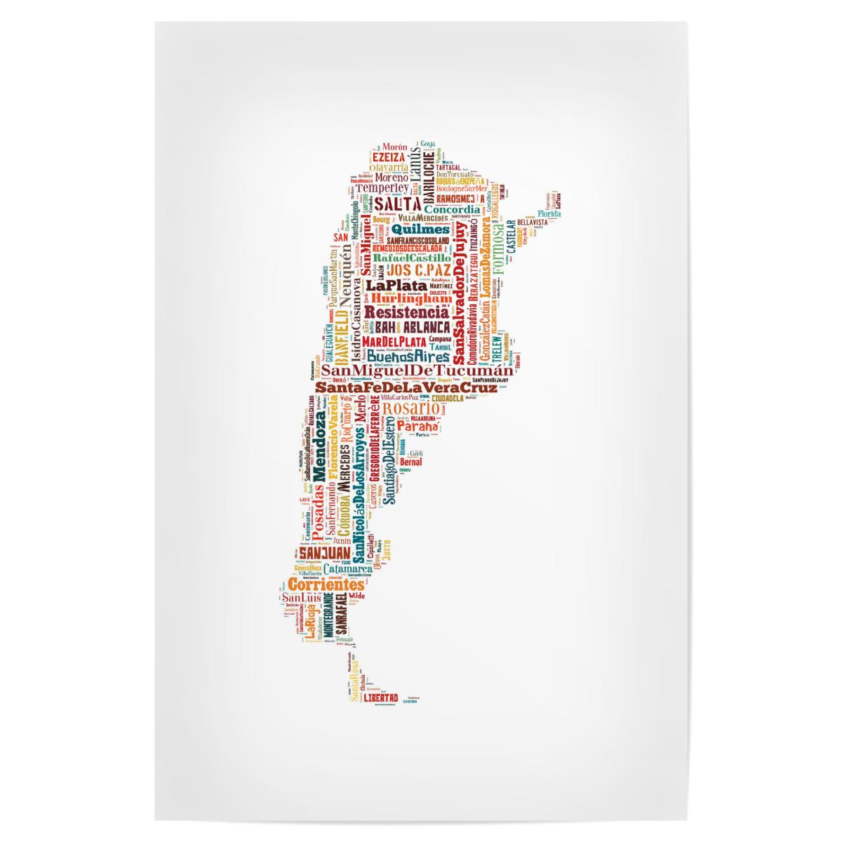 Argentina Map als Poster bei artboxONE kaufen