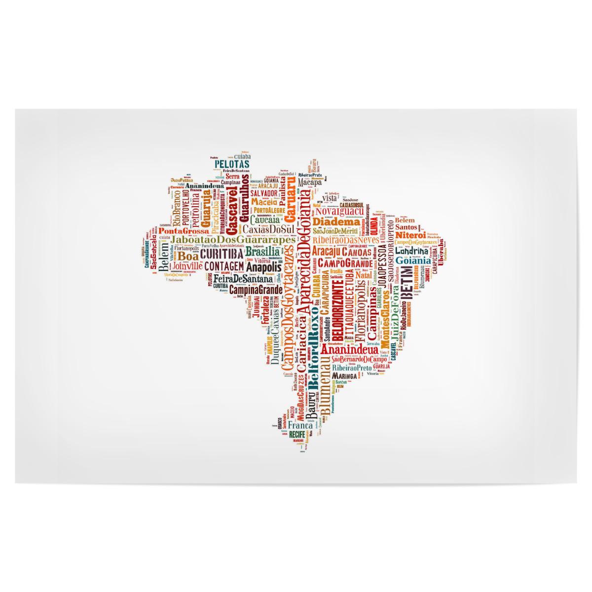 Brazil Map Black als Poster bei artboxONE kaufen