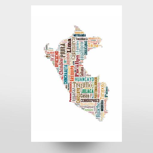 Peru Map als Kissen bei artboxONE kaufen