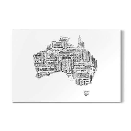 Australia Map Black als Poster bei artboxONE kaufen
