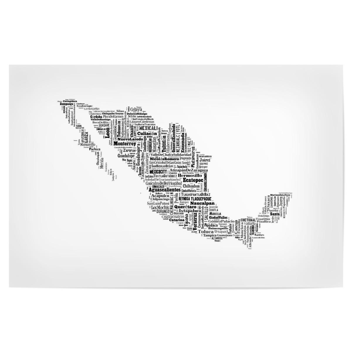 Mexiko Karte Umriss.Mexiko Map Black Als Poster Bei Artboxone Kaufen