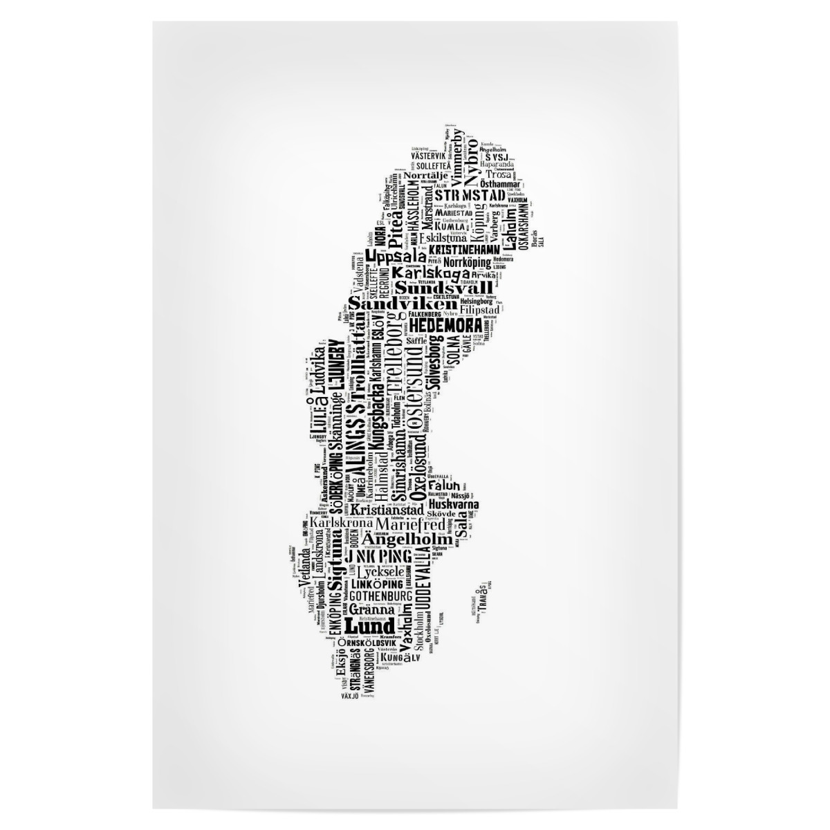 Sweden Map Black als Poster bei artboxONE kaufen
