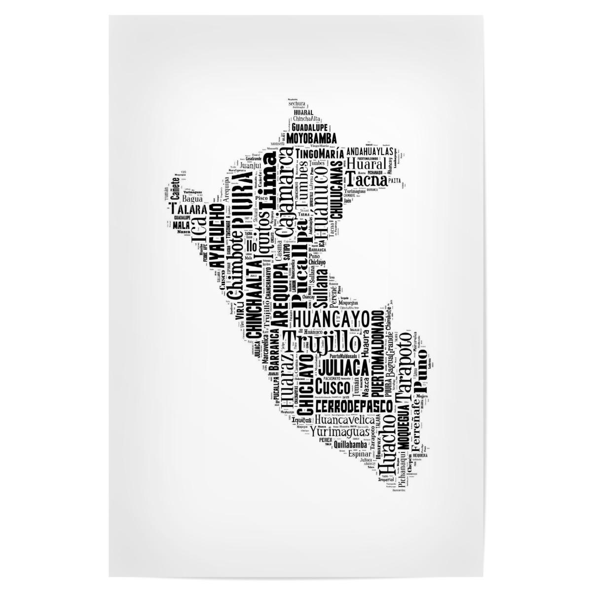 Peru Karte Umriss.Peru Map Black Als Poster Bei Artboxone Kaufen
