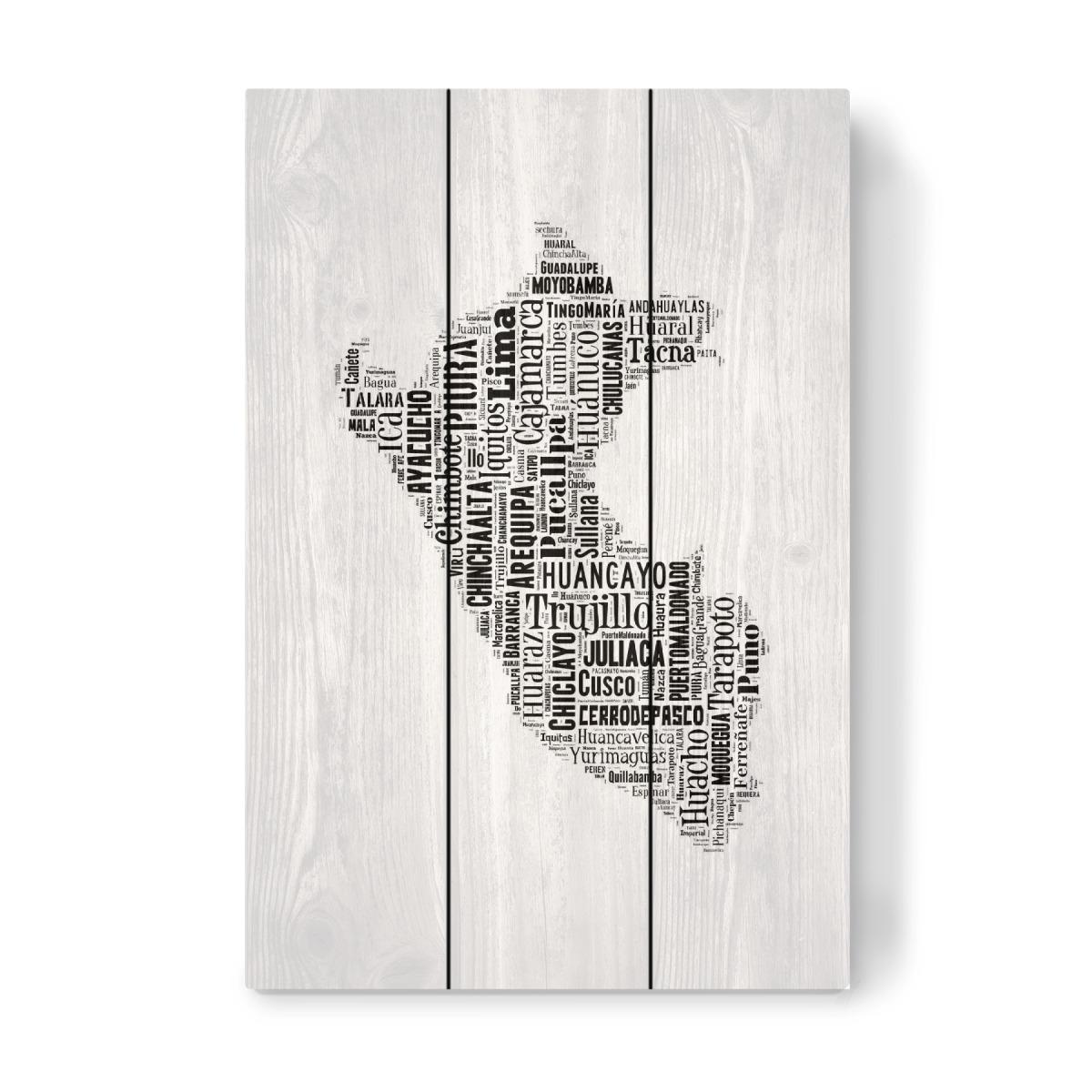 Peru Karte Umriss.Peru Map Black Als Holzbild Bei Artboxone Kaufen