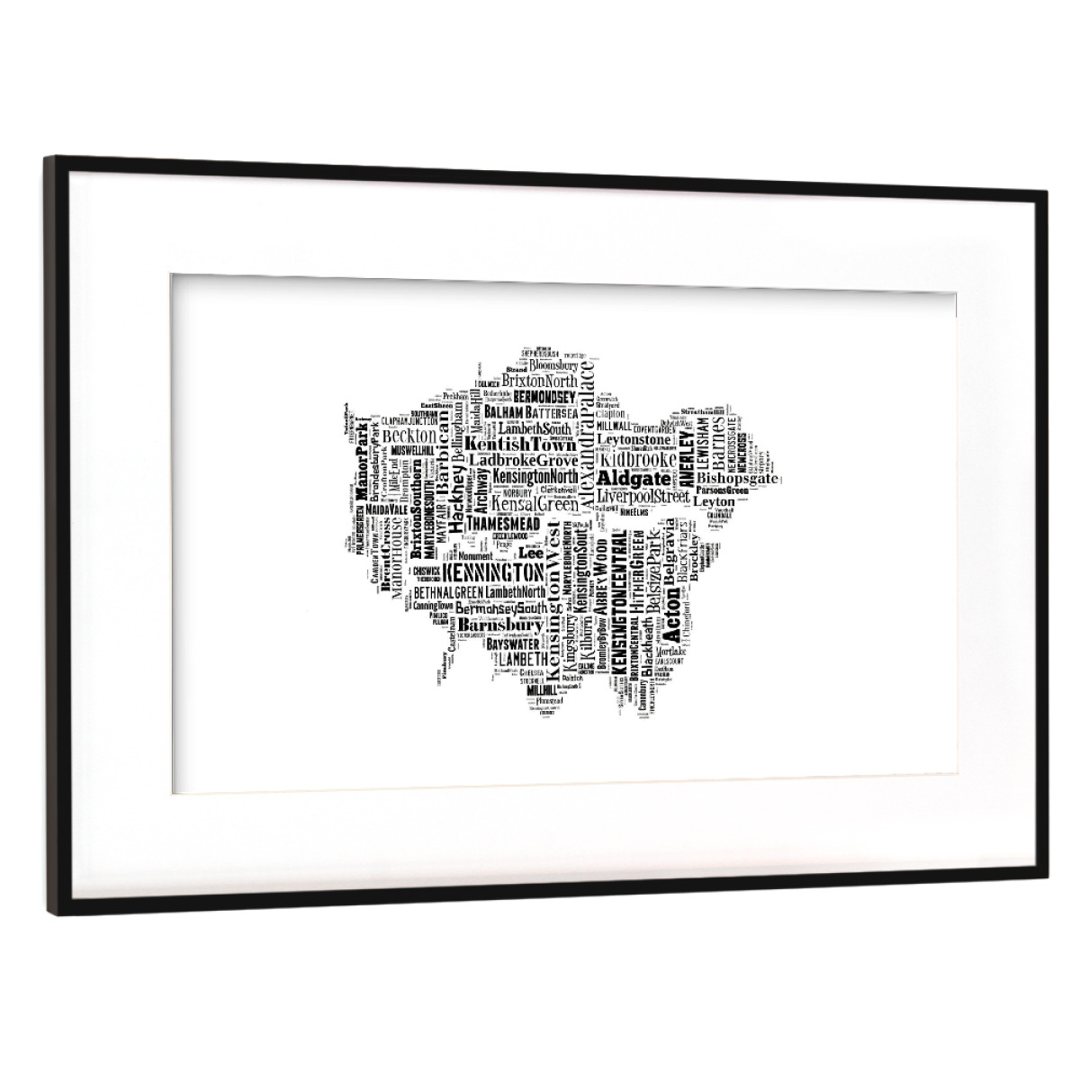 Purchase the London Map Black as a Frame at artboxONE