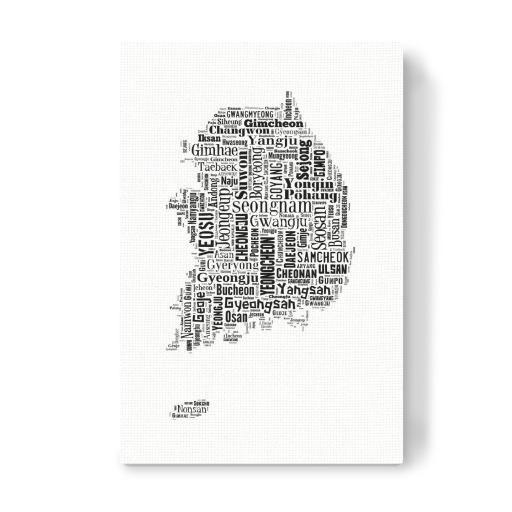 South Korea Map Black als Poster bei artboxONE kaufen