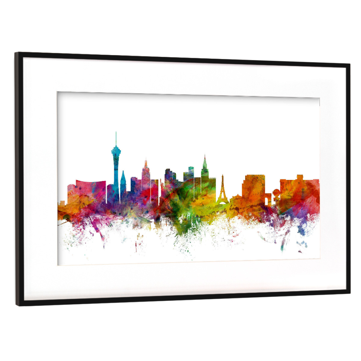 Purchase the Las Vegas Nevada Watercolor as a Frame at artboxONE