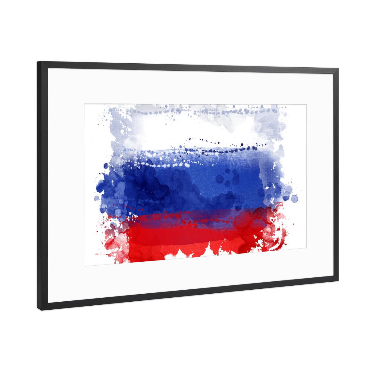 Flagge Russland als Gerahmt bei artboxONE kaufen