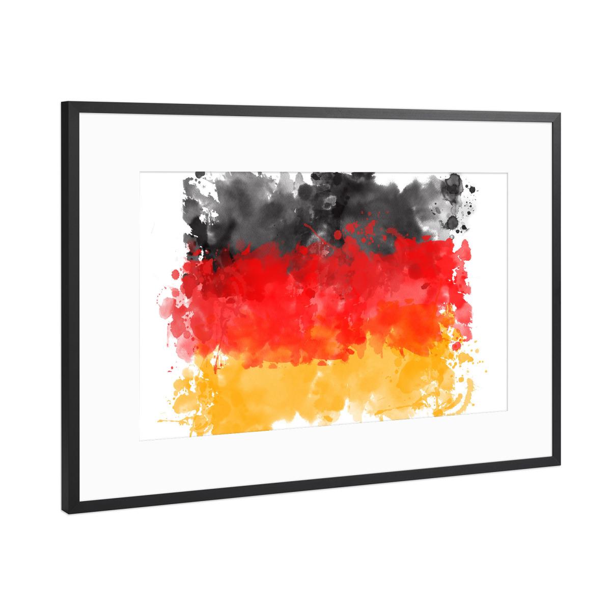 Flagge Deutschland als Gerahmt bei artboxONE kaufen