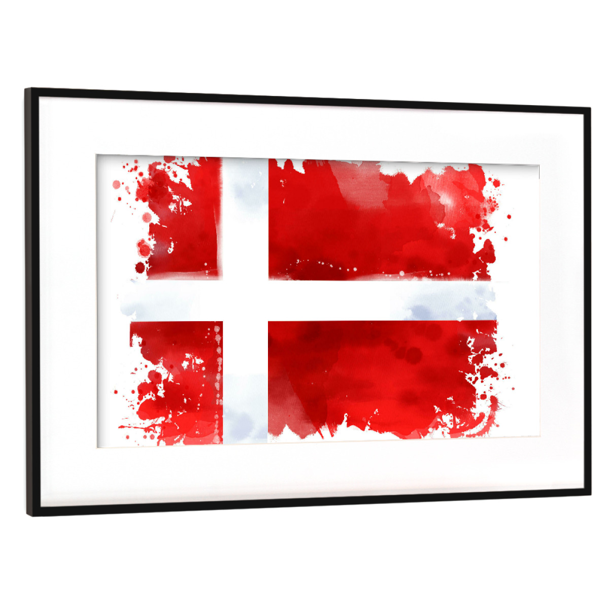 Flagge Dänemark als Gerahmt bei artboxONE kaufen