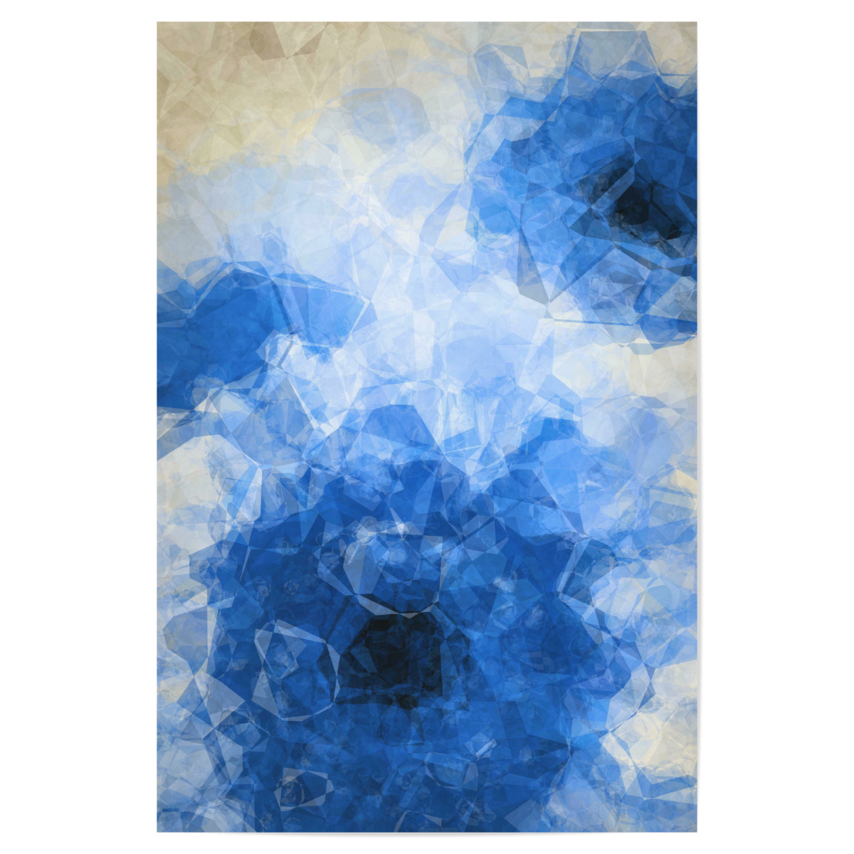 blue gerbera abstract flower vii als poster bei artboxone kaufen. Black Bedroom Furniture Sets. Home Design Ideas