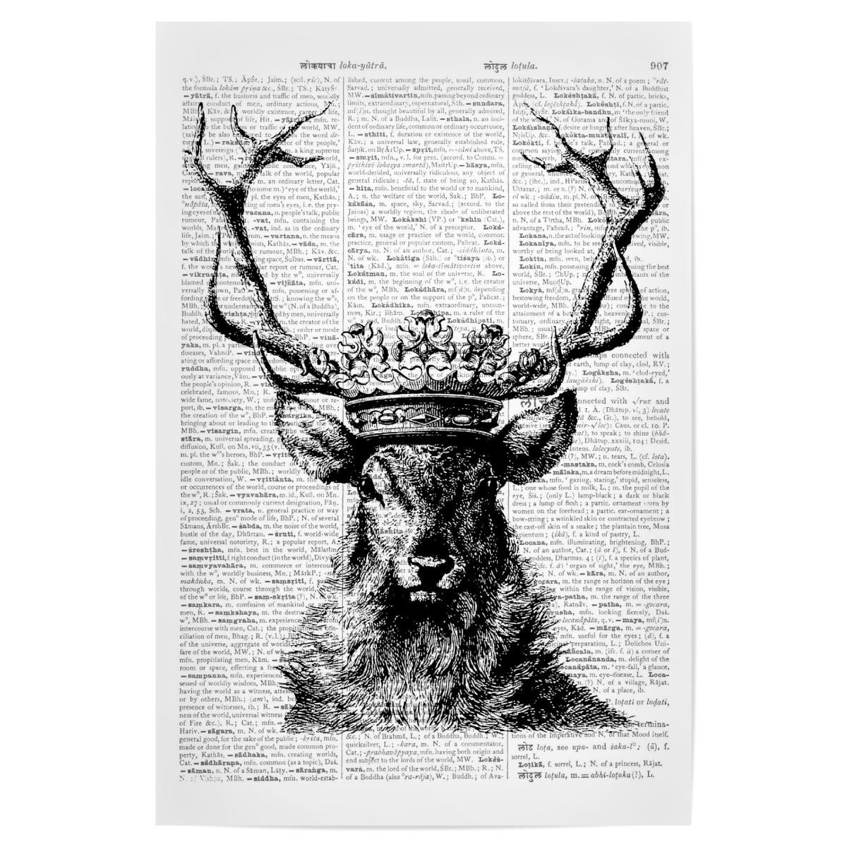 Deer King Als Poster Bei Artboxone Kaufen