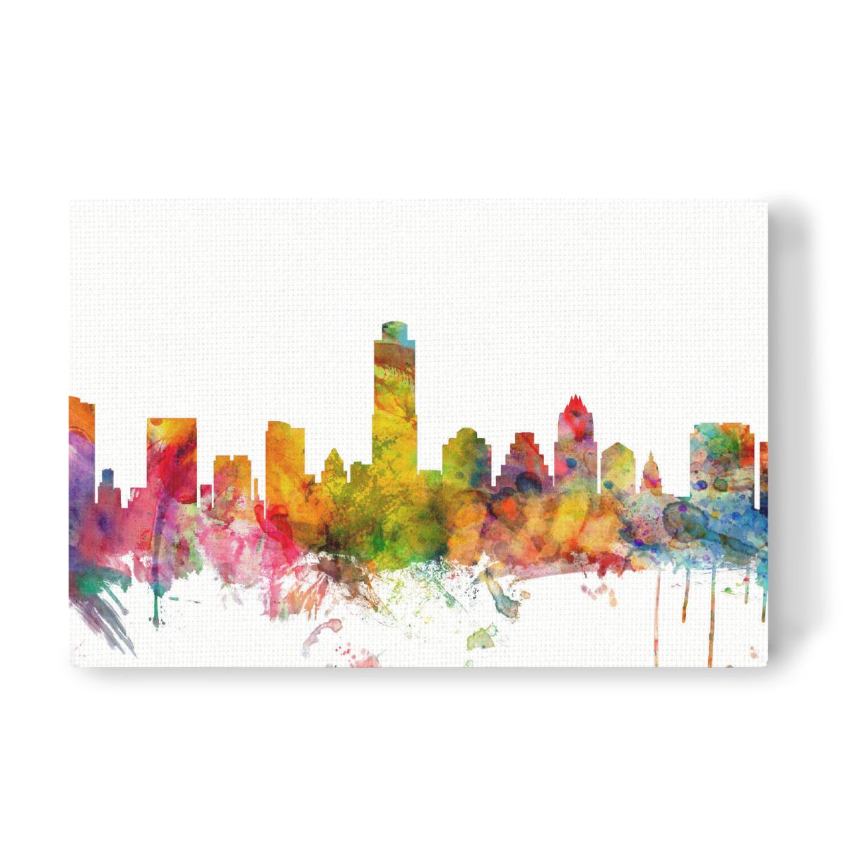 Austin Texas Watercolor als Leinwand bei artboxONE kaufen
