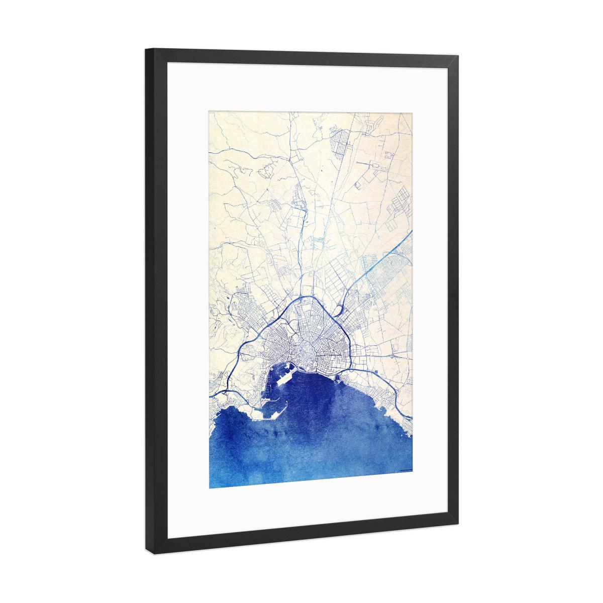 Palma Mallorca Blue Infusion Map I als Gerahmt bei artboxONE kaufen