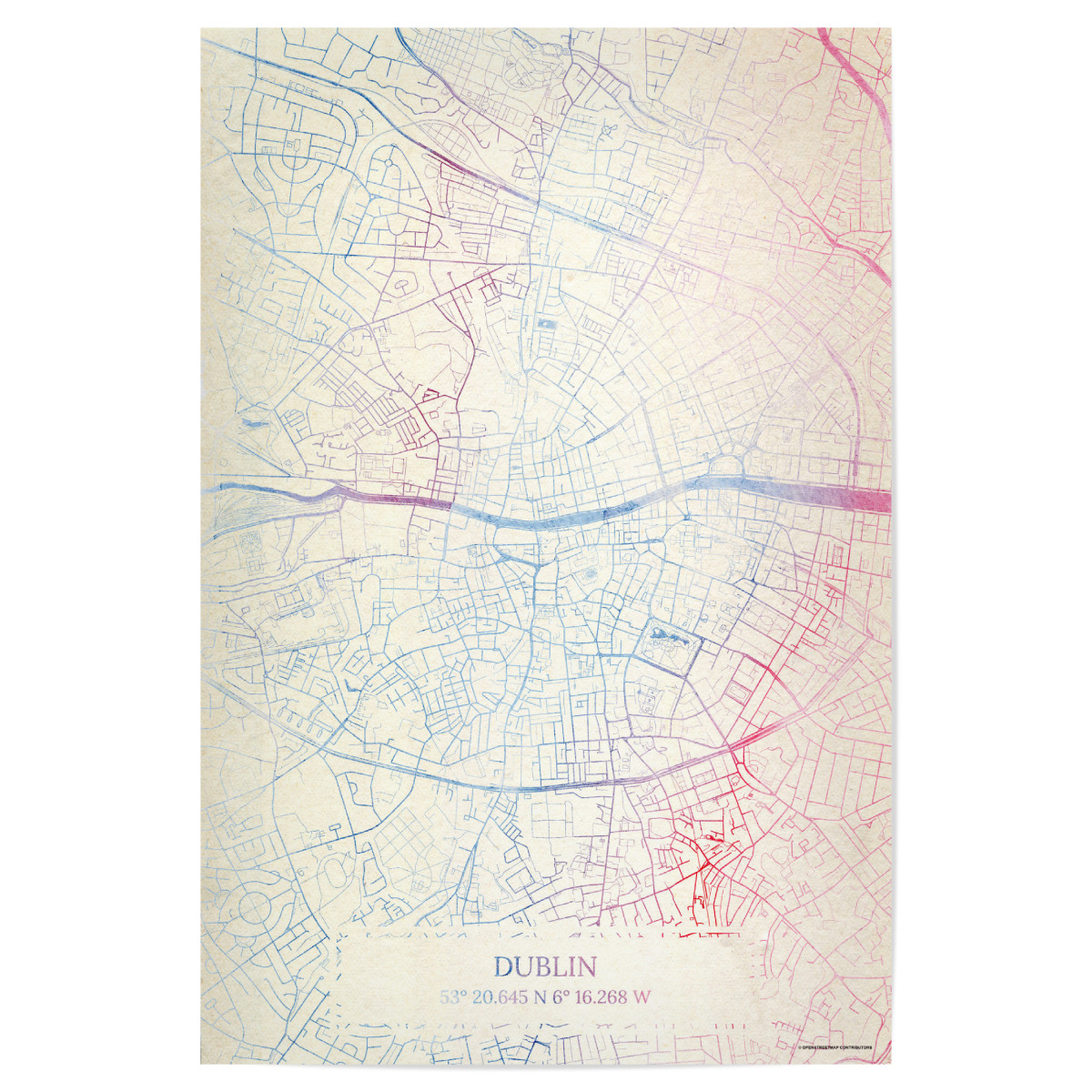 Dublin Hotels Map on