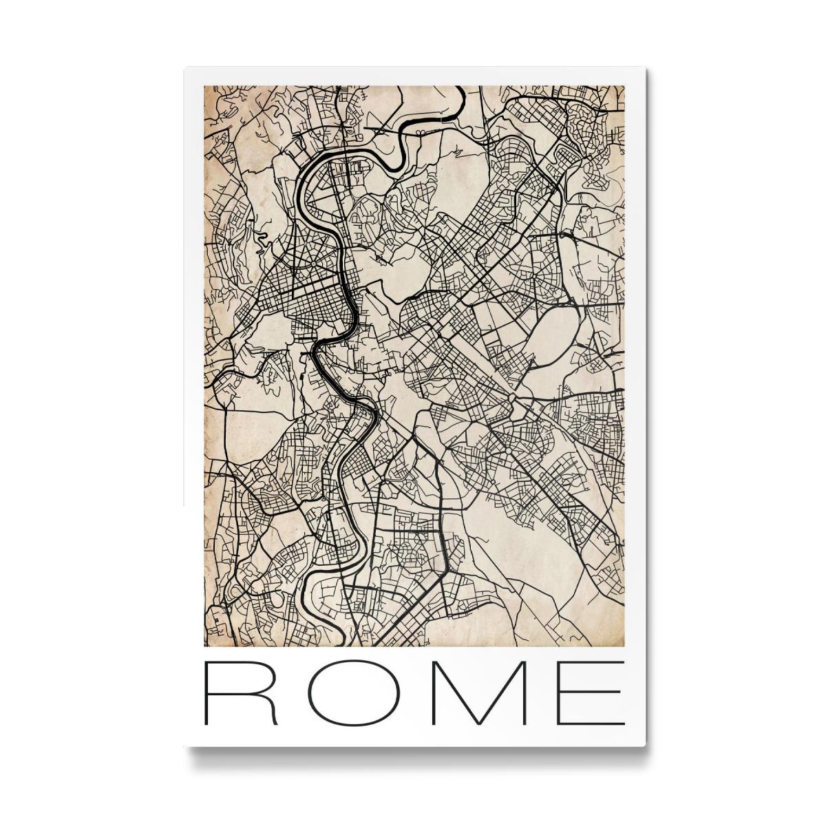 Retro City Map Rome als Galerie-Print bei artboxONE kaufen