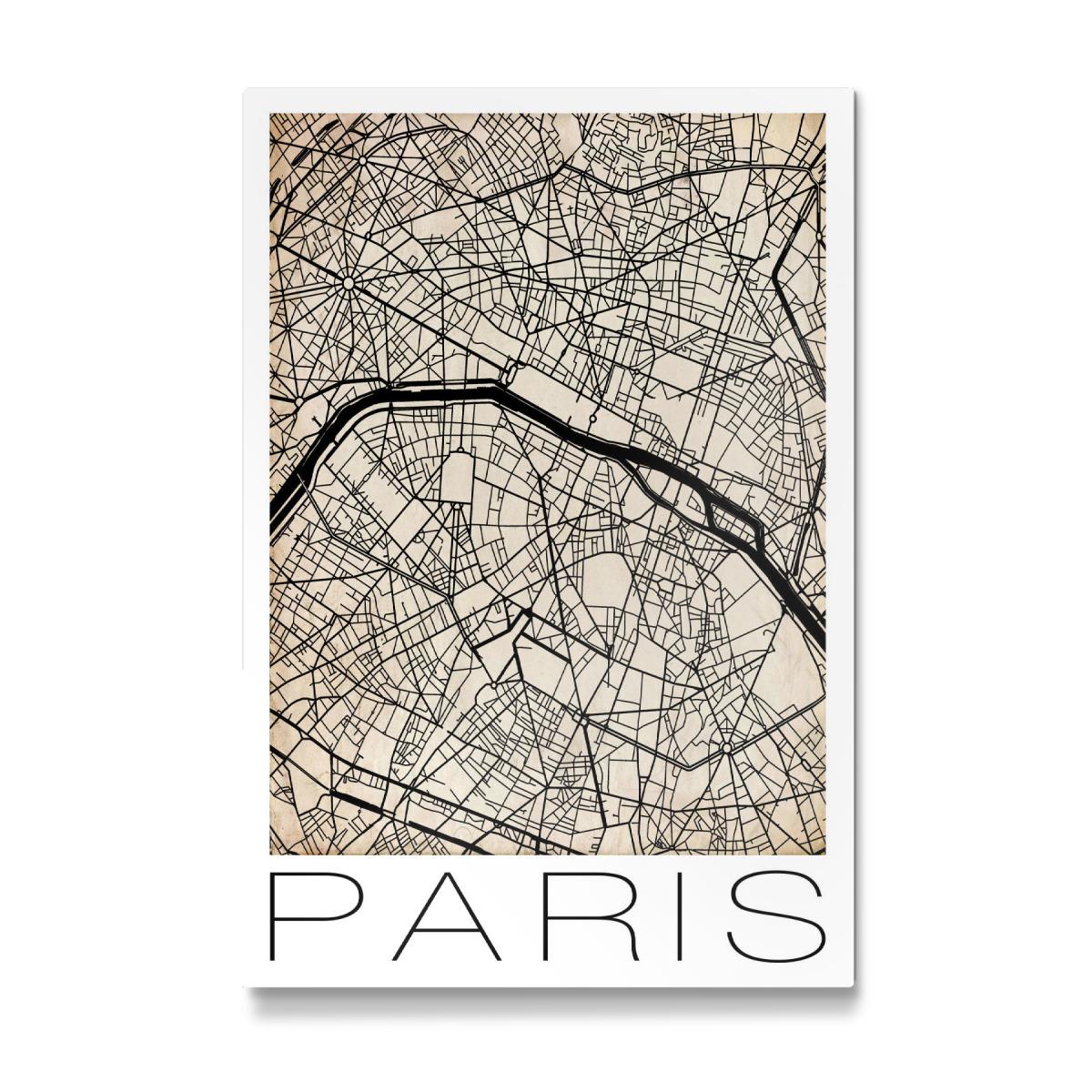 Retro City Map Paris als Galerie-Print bei artboxONE kaufen