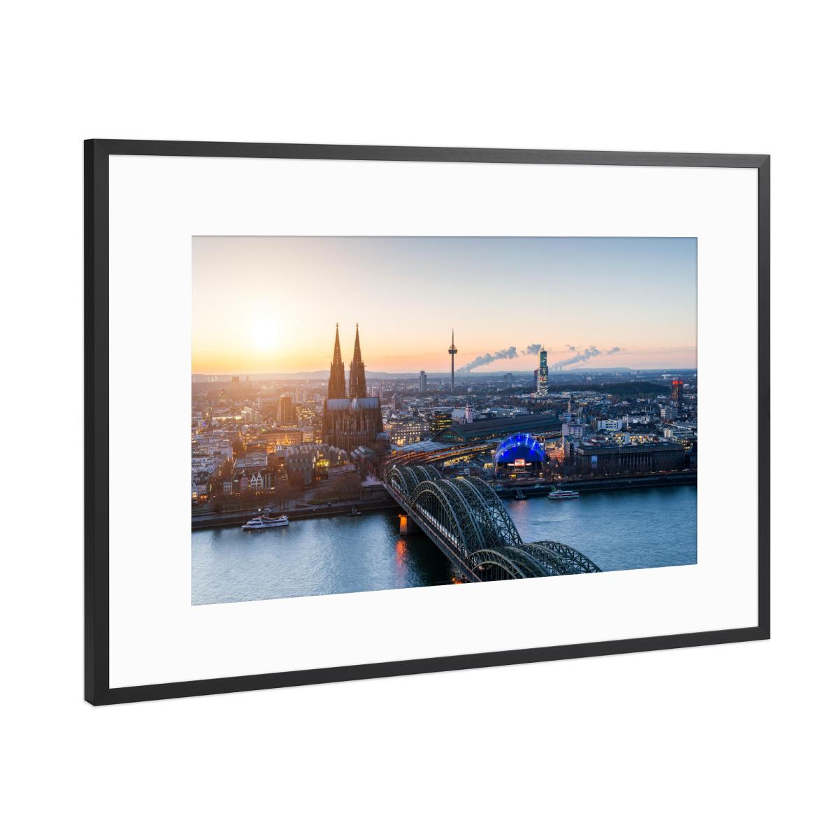 Köln Skyline als Gerahmt bei artboxONE kaufen
