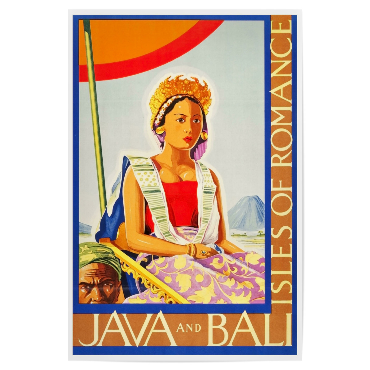 Purchase The Java Art Bali Vintage Travel Poster Home Decor Print As