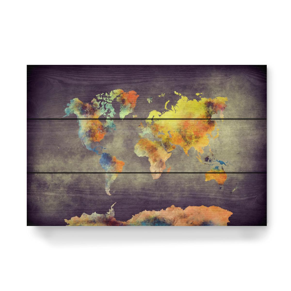world map 28 after war als Holzbild bei artboxONE kaufen