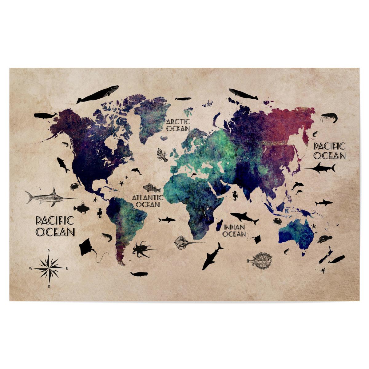 world map 26 text als Poster bei artboxONE kaufen