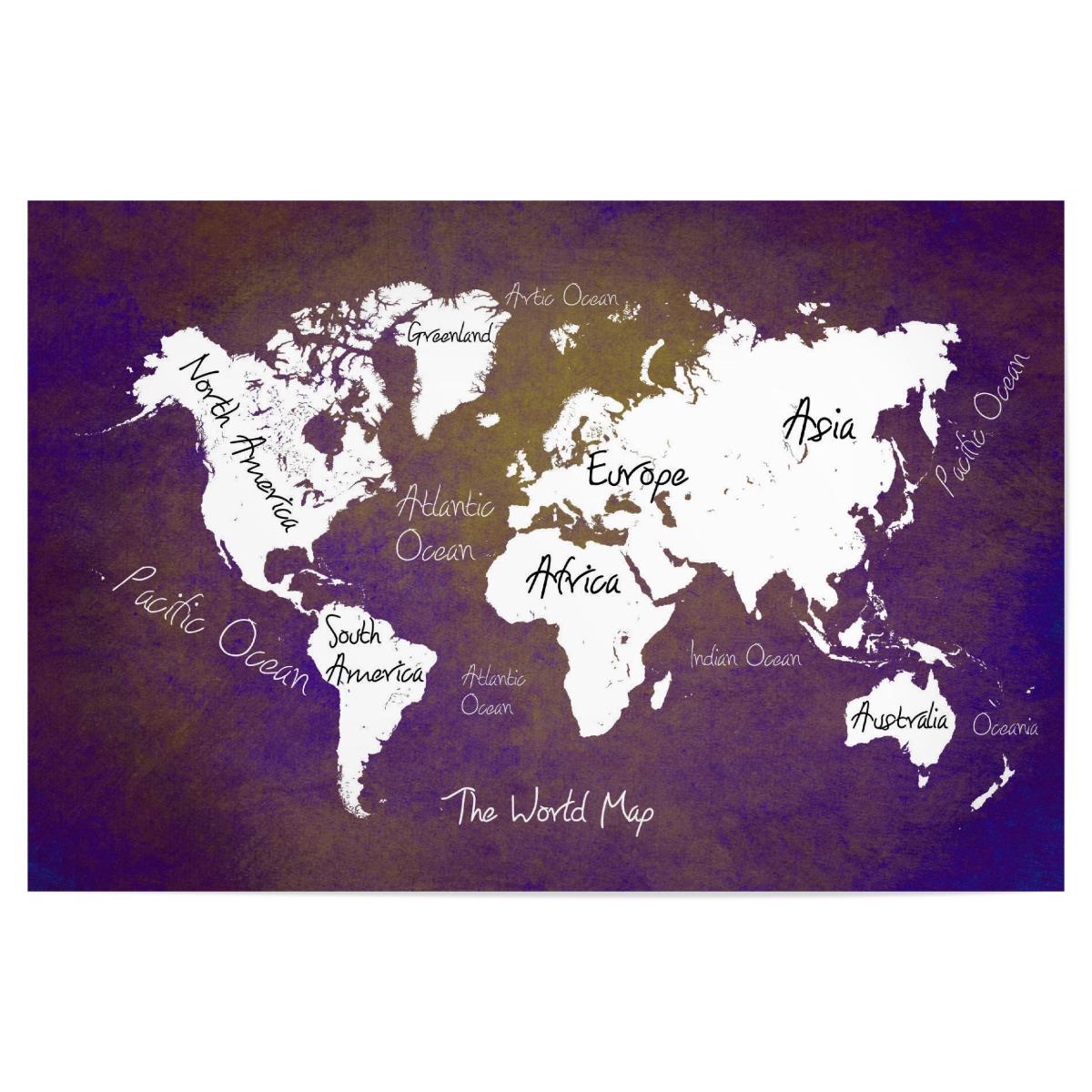 world map 24 purple text als Poster bei artboxONE kaufen