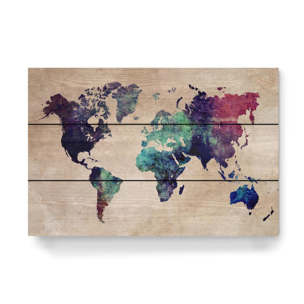 world map 2 after nuclear war als Holzbild bei artboxONE kaufen