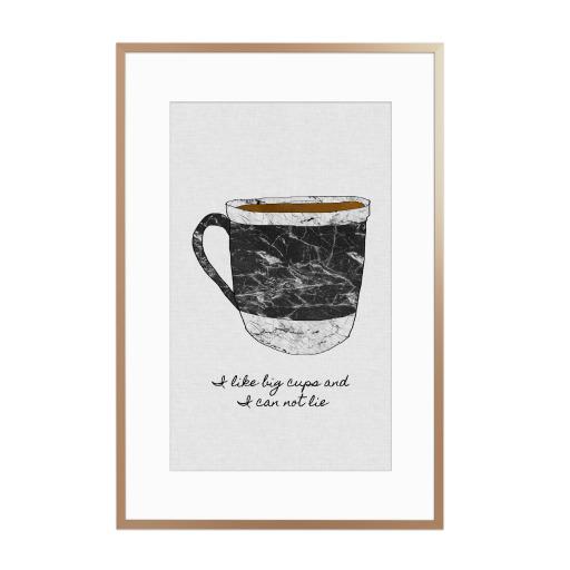 I Like Big Cups & I Can Not Lie Gerahmt