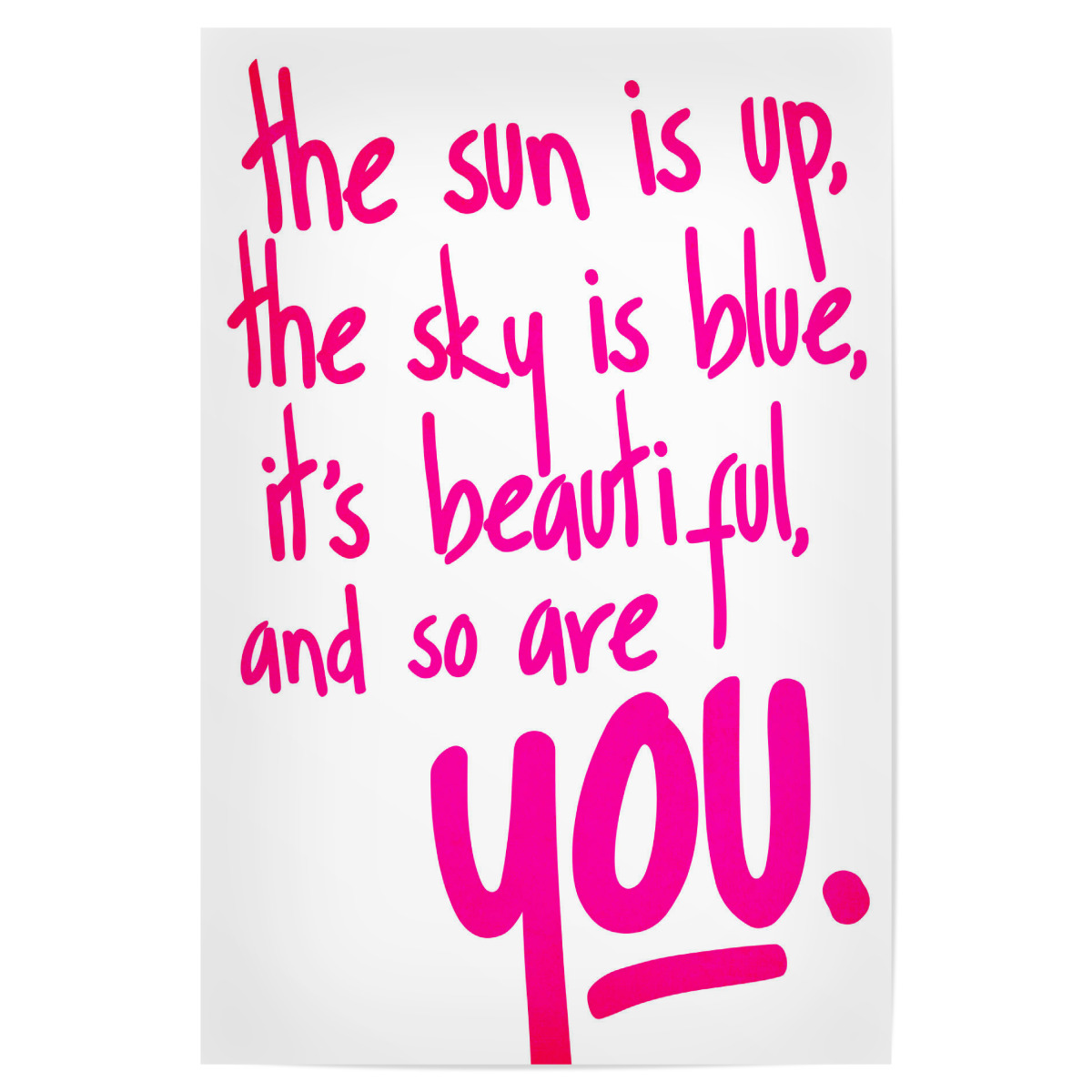 You Are So Beautiful 20x20 cm Poster
