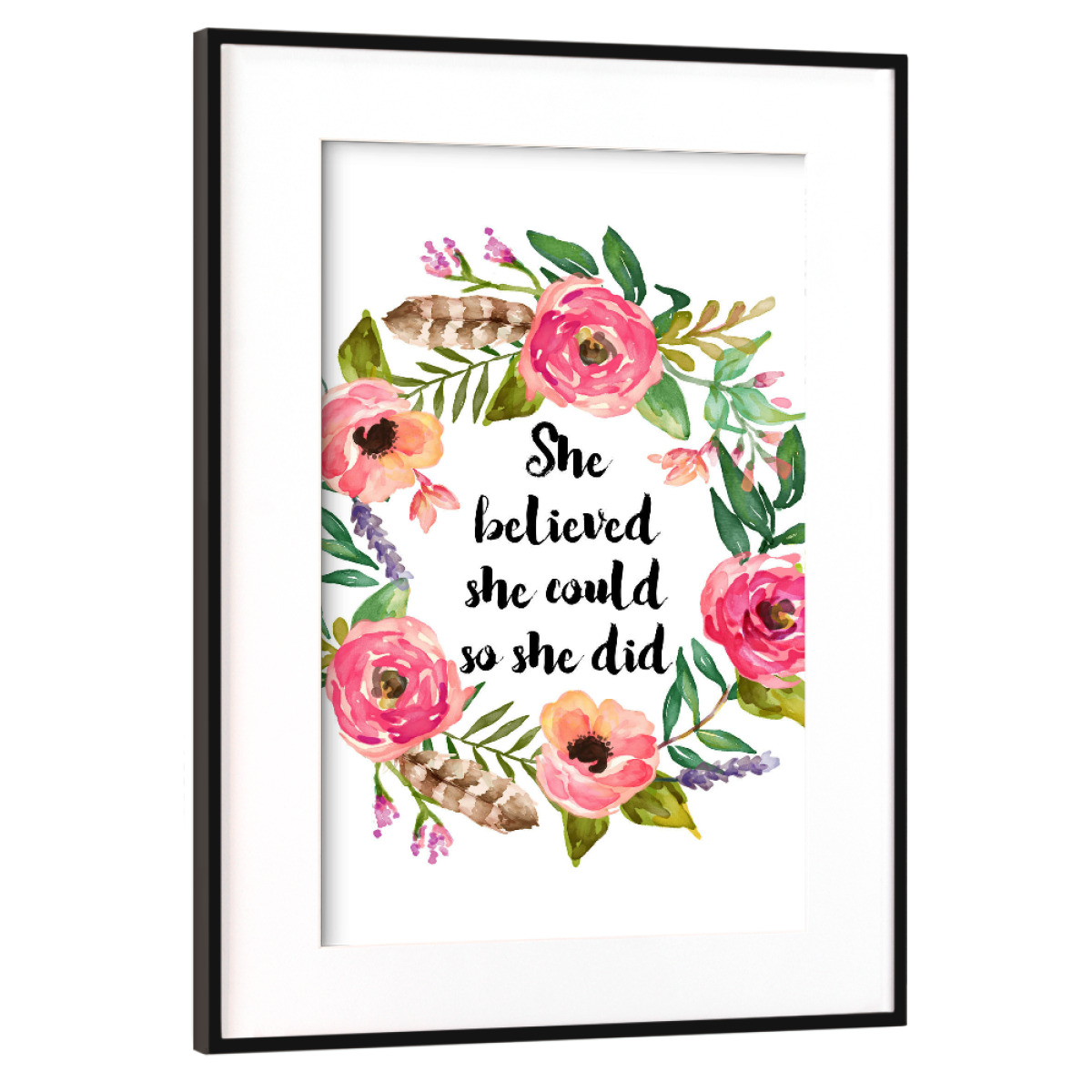 Purchase The She Believed She Could So She Did As A Frame At Artboxone