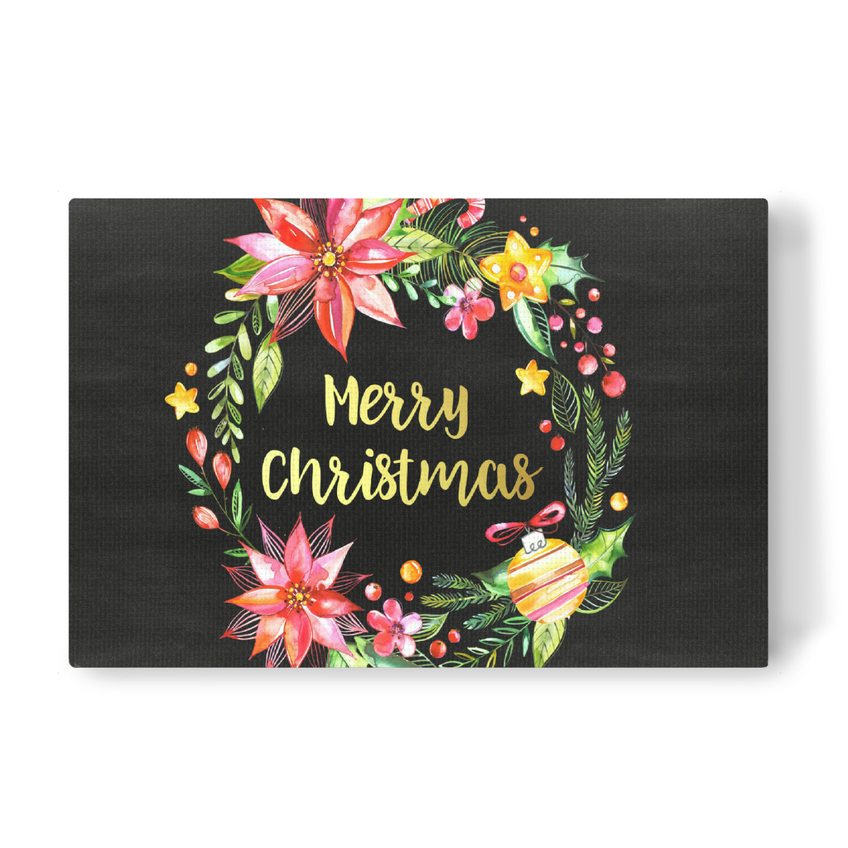 Merry Christmas Chalkboard Landscape als Leinwand bei artboxONE kaufen