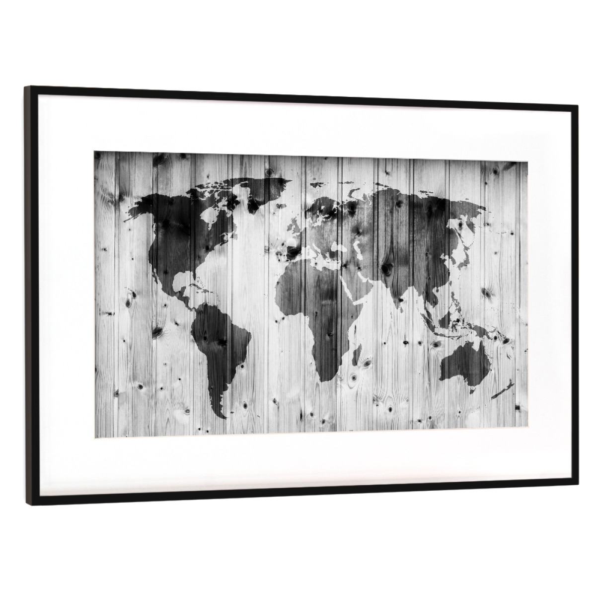 Purchase the world map on wooden wall vintage as a frame at artboxone image gumiabroncs Choice Image
