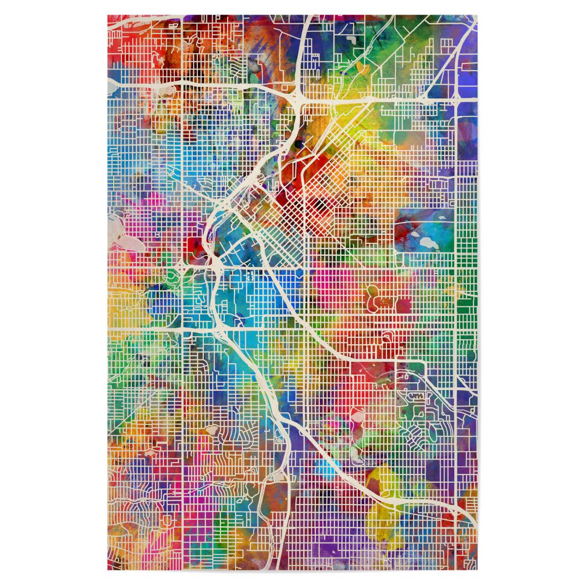 Denver Colorado Street Map als Poster bei artboxONE kaufen on