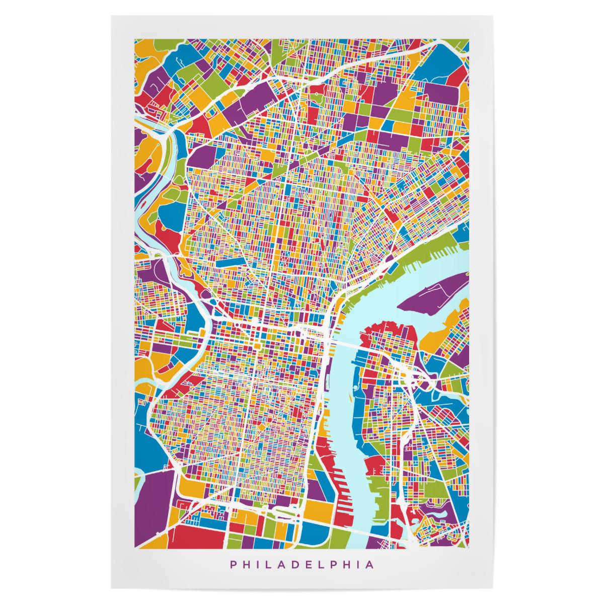 Philadelphia Pennsylvania Street Map als Poster bei ...