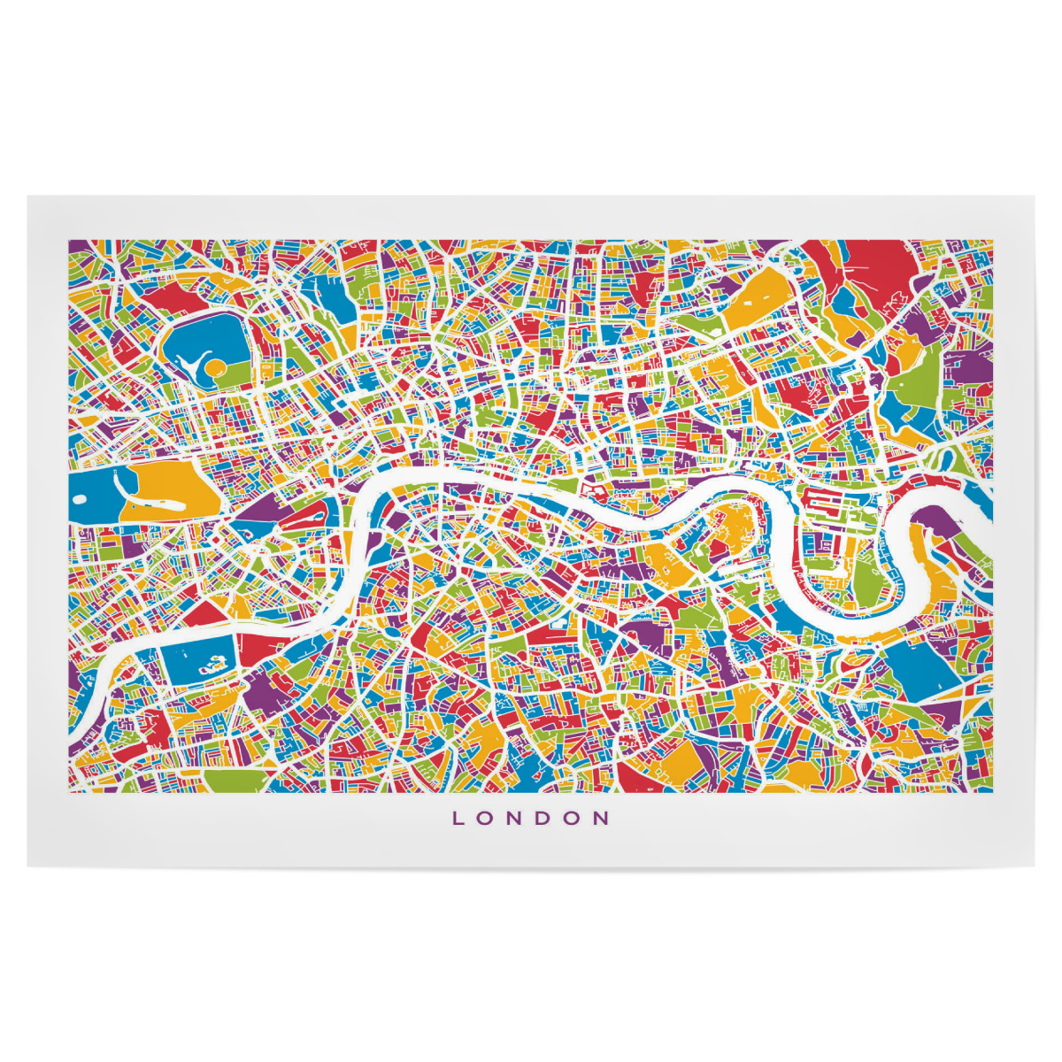 London In England Map.Purchase The London England Street Map As A Poster At Artboxone