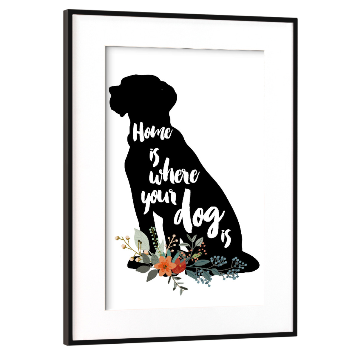 Purchase the Home is Where Your Dog Is as a Frame at artboxONE