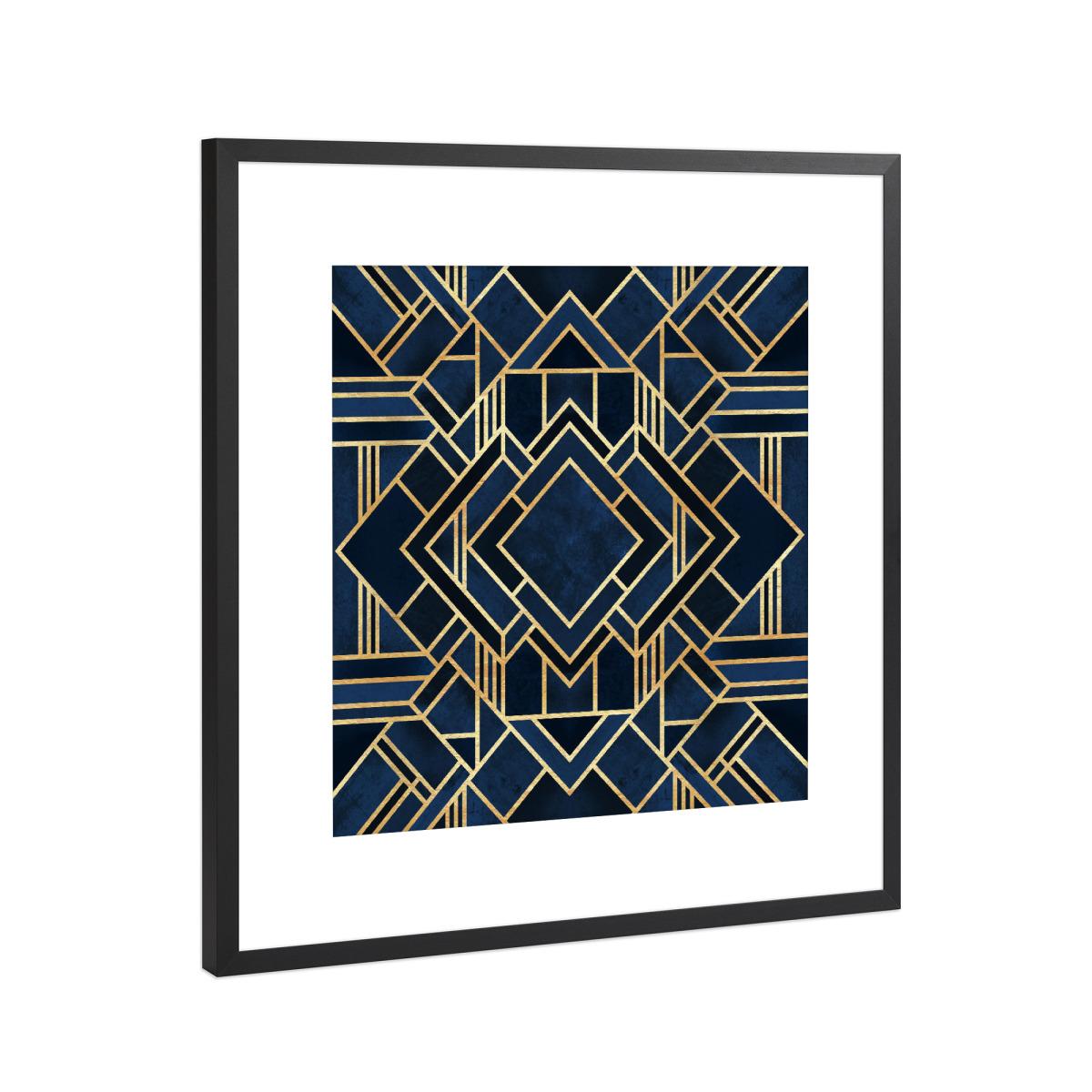 Art Deco Fancy Blue als Gerahmt bei artboxONE kaufen