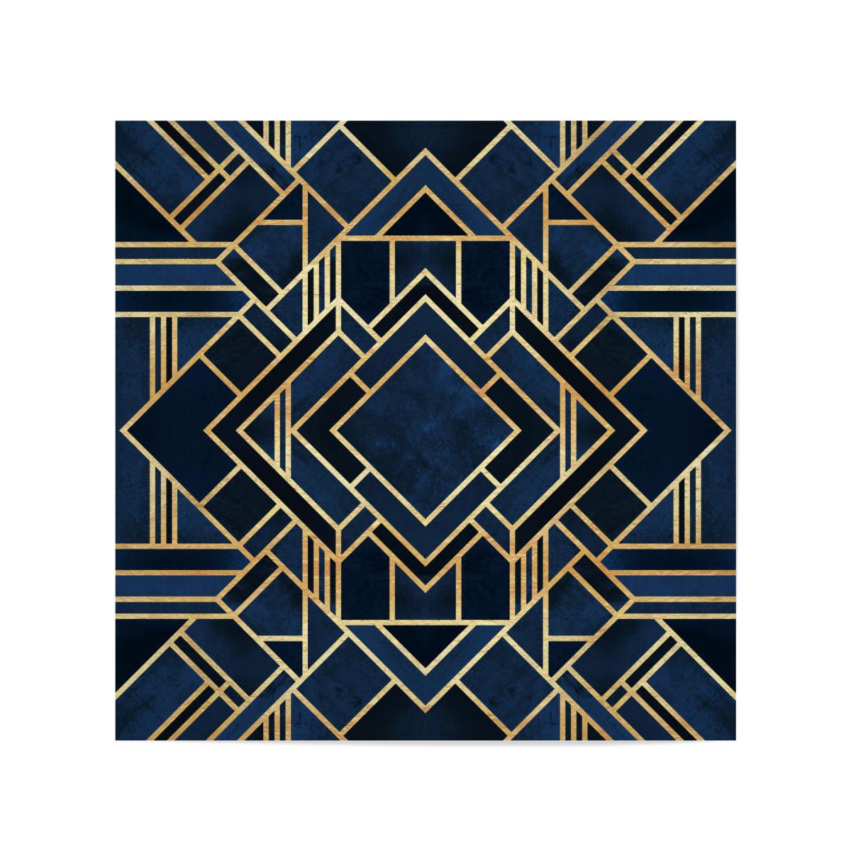 Art Deco Fancy Blue Als Poster Bei Artboxone Kaufen