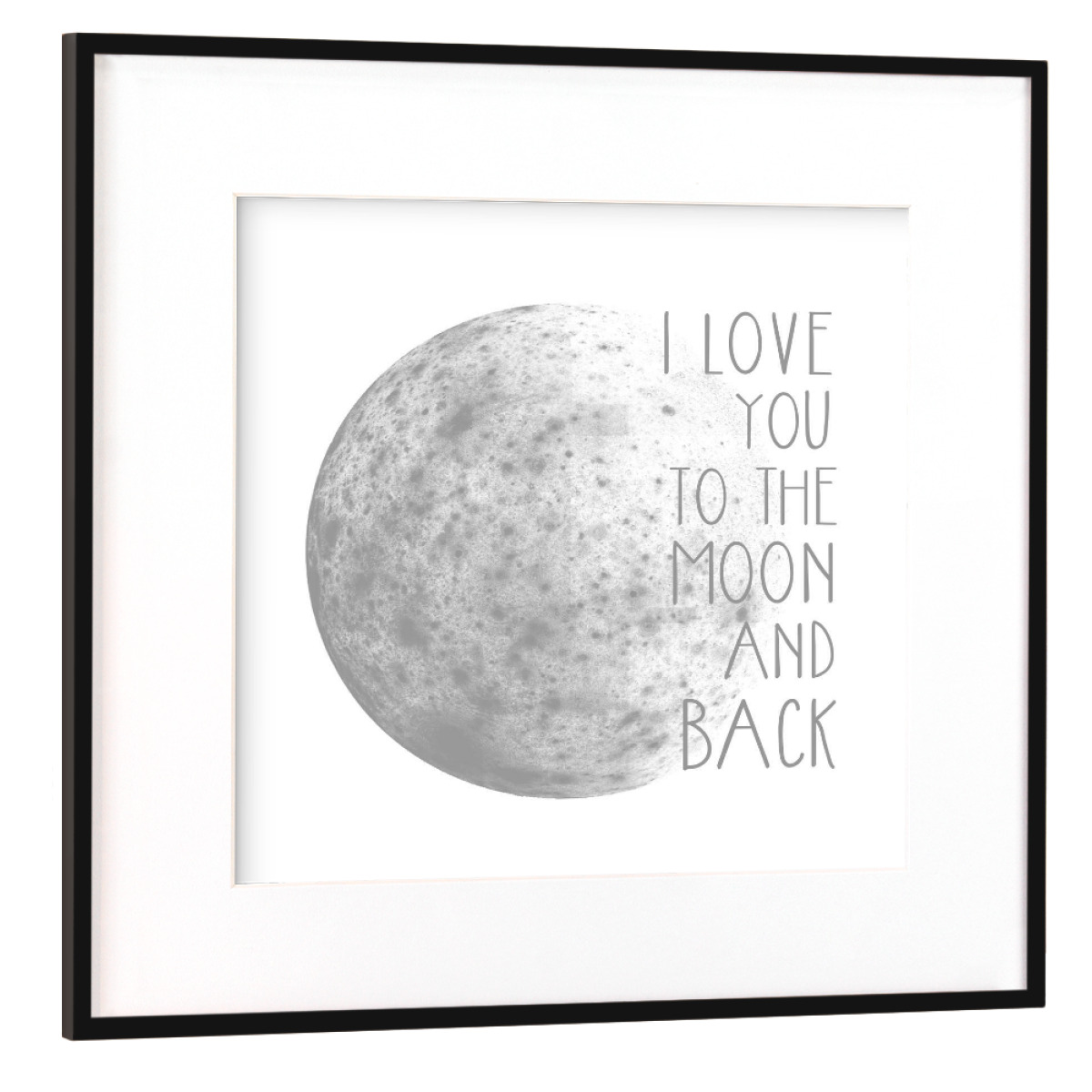 Purchase the I Love You To The Moon And Back as a Frame at artboxONE