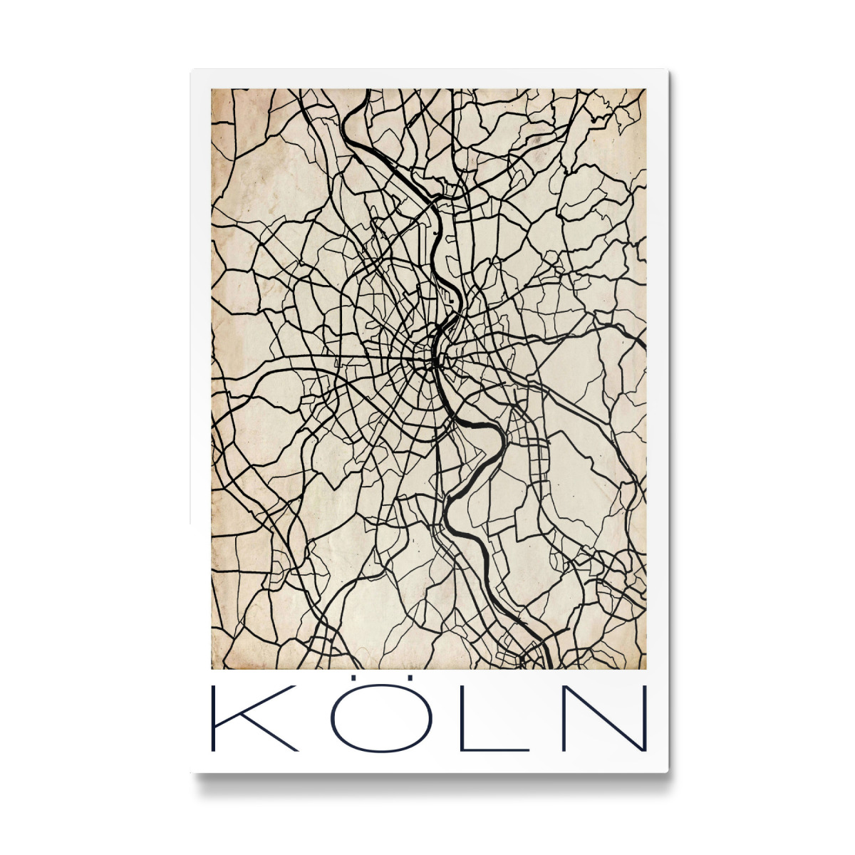 Cologne Germany Map Vintage als Galerie-Print bei artboxONE ...