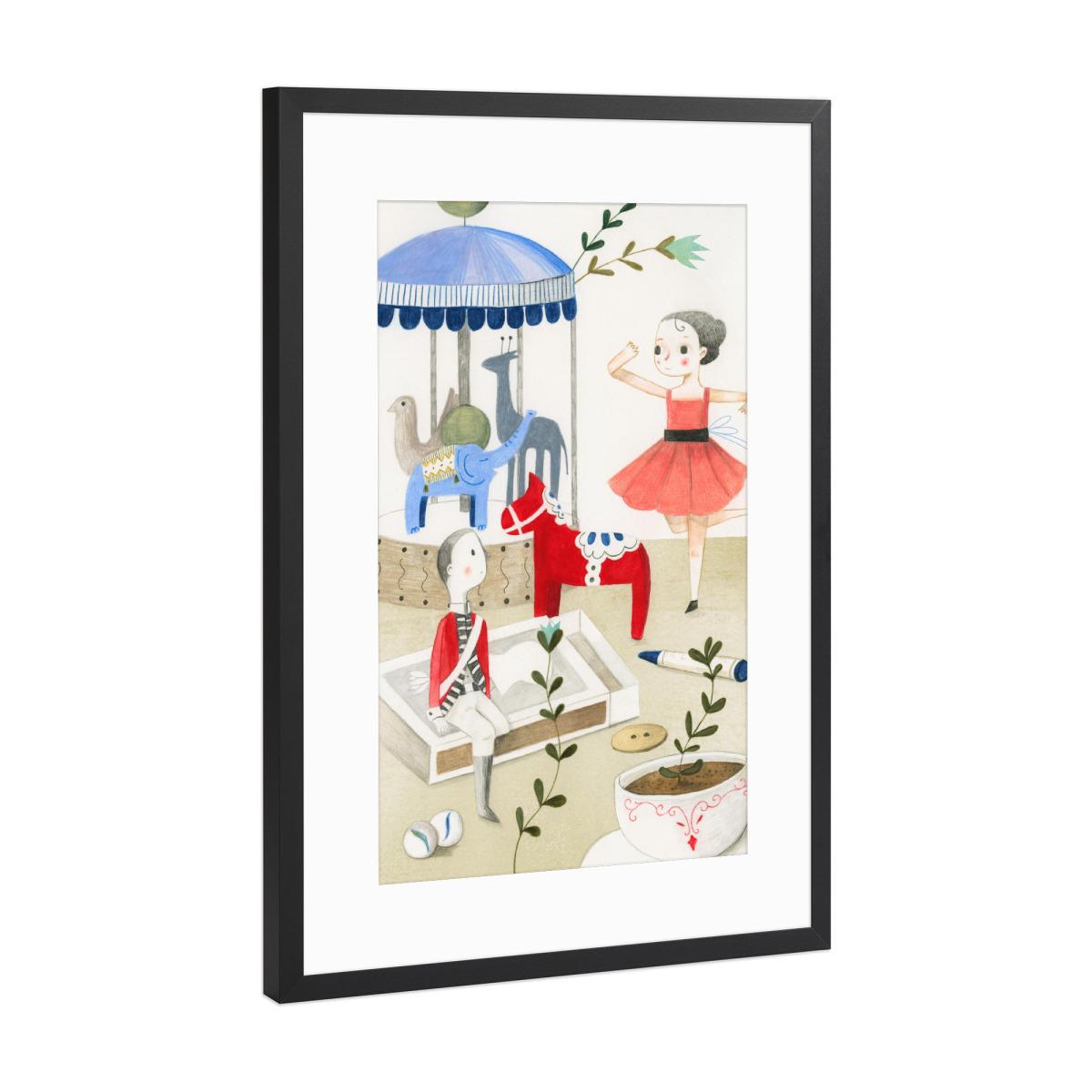 Die Ballerina und der Zinnsoldat als Gerahmt bei artboxONE kaufen