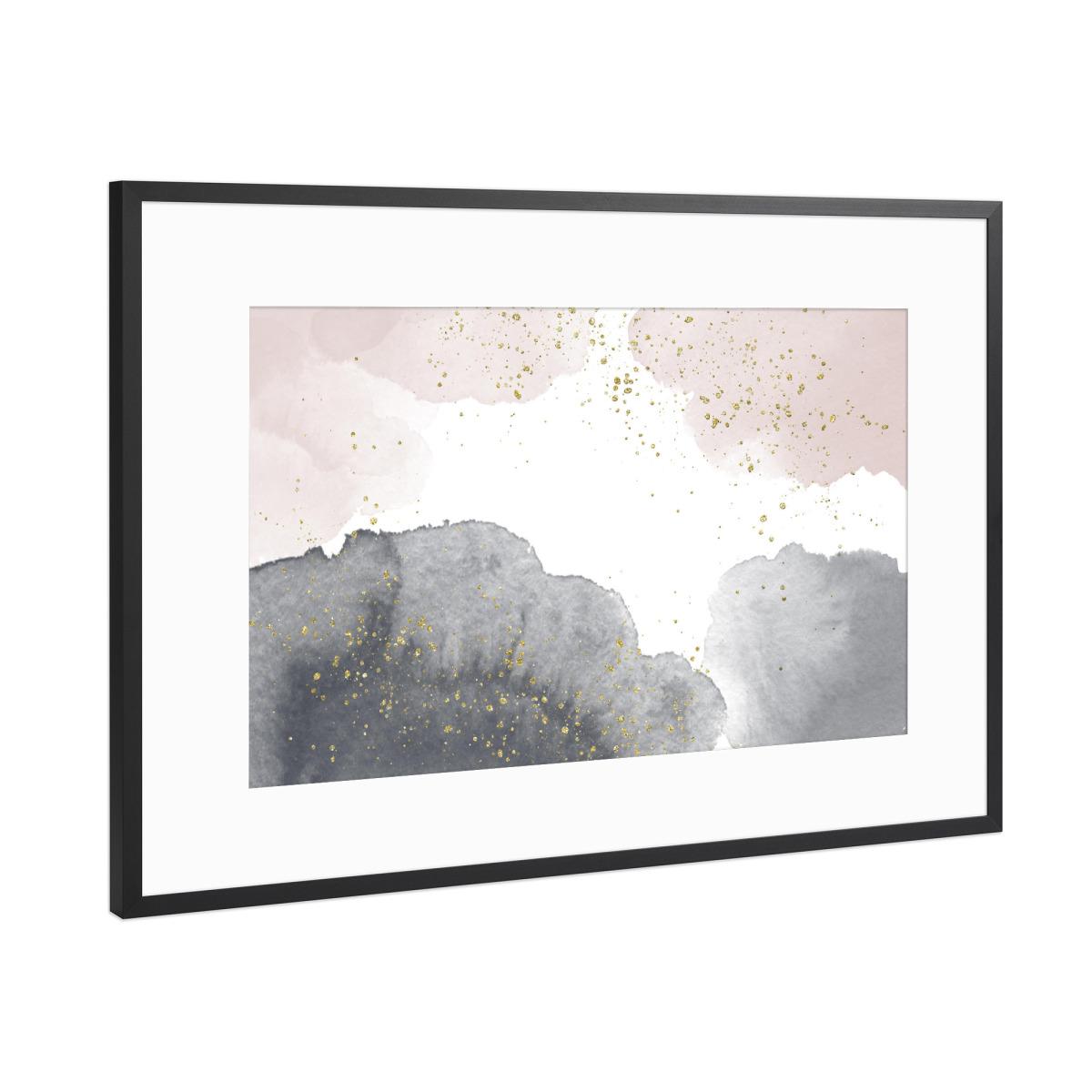 Sparkling Watercolour Clouds - Black Nude als Gerahmt bei artboxONE ...