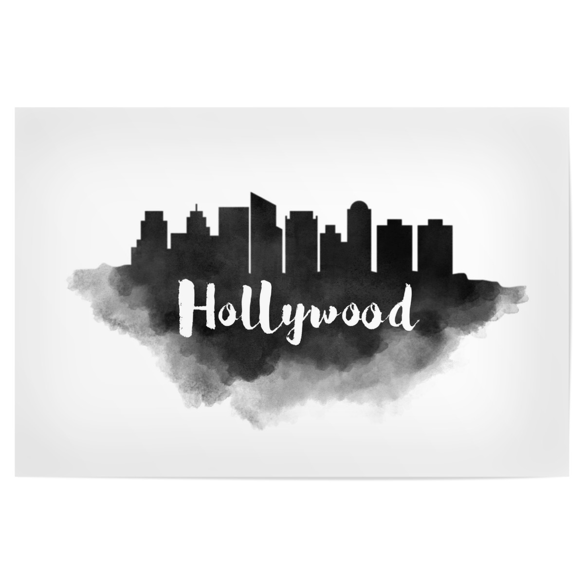 Watercolor Hollywood Skyline als Poster bei artboxONE kaufen