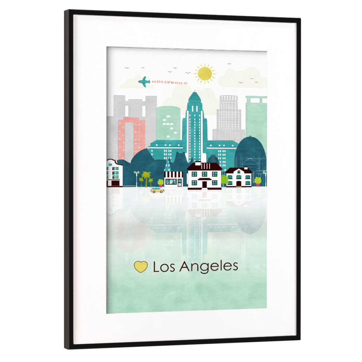 Purchase the Los Angeles Skyline as a Frame at artboxONE