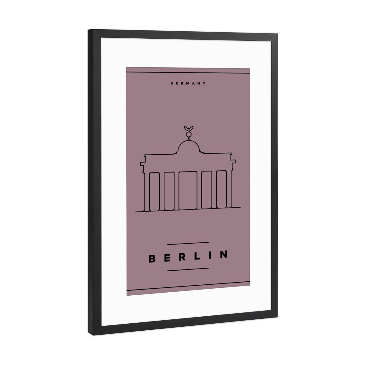 Minimal Berlin Poster als Gerahmt bei artboxONE kaufen