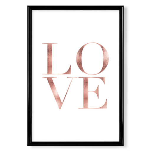 LOVE rose gold Poster