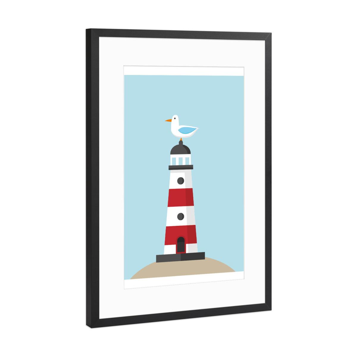 Leuchtturm als Gerahmt bei artboxONE kaufen